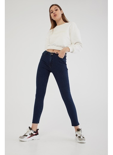 Modaset Yüksel Bel Skinny Fit Jean Pantolon Mavi Mavi